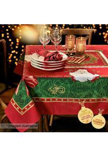 Lepper Toalha De Mesa Estampada Natal Vermelha & Verde 220X140Cm