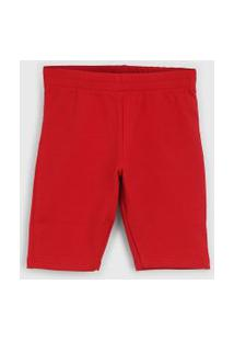 Bermuda Rovitex Infantil Vermelha