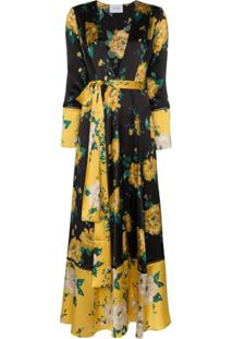 We Are Leone Vestido Longo Com Estampa Floral - Preto