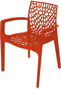 Cadeira Gruver Com Braco Polipropileno Laranja - 30475 - Sun House