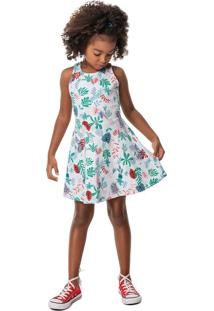 Vestido Evasê Malha Texturizada Menina