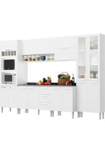 Cozinha Rafaela Branco C/ Tampo Genialflex Mã³Veis - Branco - Dafiti