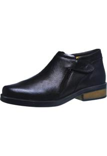 Botina Urbana Gel Anatômico Doctor Shoes 8825 Preta