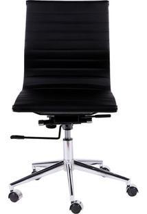 Cadeira Office Eames Esteirinha- Preta- 101X60X53Cm