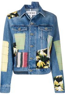 Loewe Jaqueta Jeans Com Patchwork - Azul