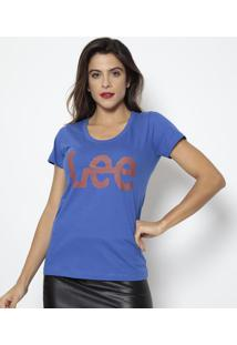 "Camiseta ""Lee®""- Azul & Bordô- Leelee"
