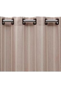 Cortina De Ilhós Vaticano 200X230 Nude E Cru Beca Decor