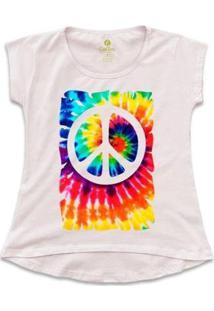 Camiseta Cool Tees Tie Dye Simbolo Da Paz Feminina - Feminino-Rosa