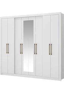 Guarda-Roupa Héster Com Espelho - 8 Portas - Branco