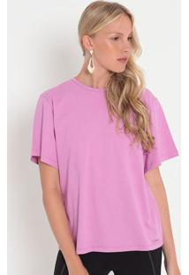 Camiseta Com Botões- Lilás- Colccicolcci