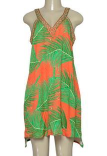 Vestido Fem Morena Rosa 202711 Laranja/Verde