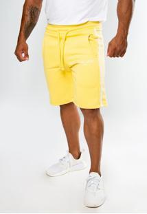 Bermuda Moletom Top Fit Advance Amarelo - Kanui