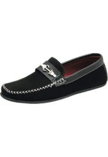 Mocassim Ousy Shoes Docksides Preto