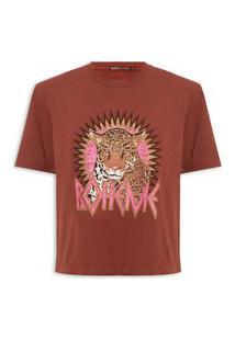 Camiseta Feminina Boheme Tiger - Vinho