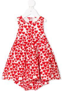Stella Mccartney Kids Vestido Com Estampa De Coração - Vermelho
