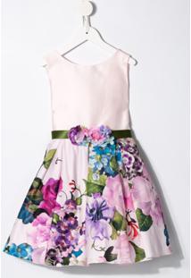 Lesy Vestido Com Estampa Floral - Rosa