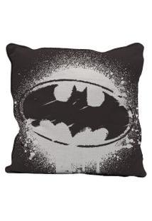Capa Para Almofada - Dc Comics - Batman - Logo Grafite - Preto - 45X45 - Metrópole