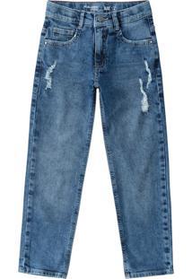Calça Jeans Skinny Menino Malwee Kids Azul Claro - 1