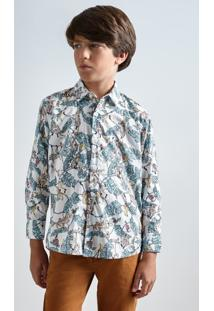 Camisa Mini Pf Liberty Tree Reserva Mini Branco - Kanui
