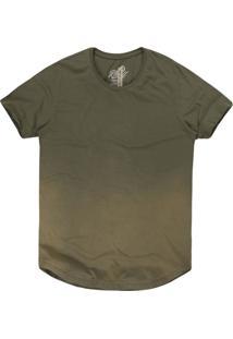 Camiseta Masculina Longa Degradê Militar
