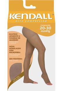 6473f15a3 Meia Calça Alta Compressão 20-30 Mmhg Kendall Mel Ponteira Aberta G