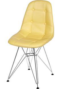 Cadeira Eames Botone Amarela Base Cromada - 39068 - Sun House