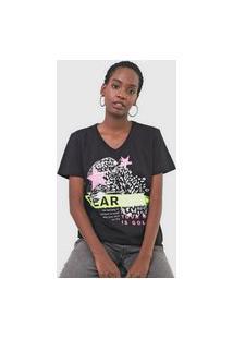 Camiseta Triton Fearless Neon Preta