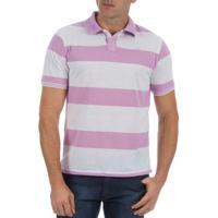 6f17f21f0ab53 Camisaria Colombo. Camisa Polo Masculina Lilás Listrada