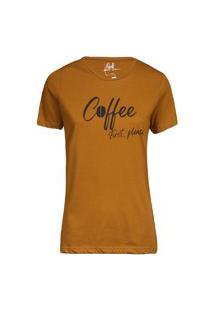 Camiseta Feminina Coffee Khaki