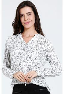 Camisa Feminina Estampada Manga Longa Marisa