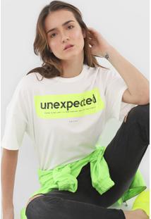 Camiseta Colcci Unexpected Neon Off-White