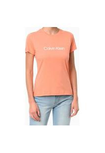 Camiseta Gola Careca Papaya Calvin Klein