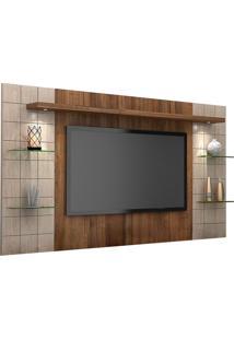 Painel Para Tv Até 42 Polegadas Atenas 2060 Ameixa Negra/Santana - Knr Móveis