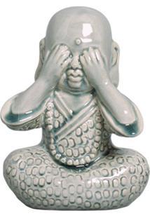 Estátua Decorativa Buda Não Vejo Verde