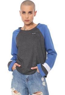 Camiseta Volcom Streakin Stone Azul/Grafite