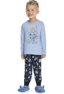 Pijama Espaço Azul