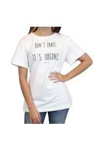 Camiseta Colcci Estampada Feminina Branco