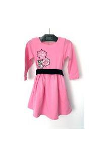 Vestido Bebê Dolce Bambina Patchs Pink