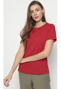 Camiseta Lisa- Vermelha- Mirasulmirasul