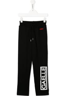 Gaelle Paris Kids Logo Sweatpants - Preto