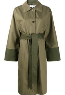 Loewe Two-Tone Trench Coat - Verde