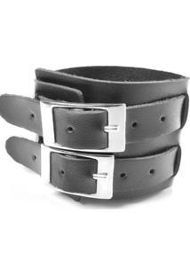 Bracelete Galeria Do Rock Duas Fivelas - Unissex