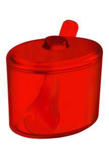 Açucareiro Cozy 10,5 X 9,2 X 9,4 Cm 320 Ml Vermelho Transparente Coza