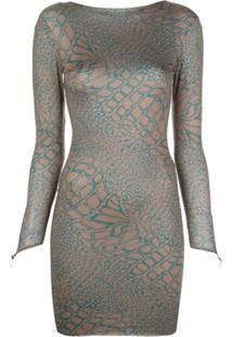 Maisie Wilen Vestido Slim Com Estampa - Marrom
