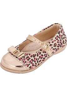 Sapatilha Infantil Plis Calçados - Feminino-Rose Gold