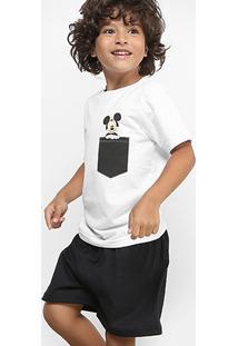 Pijama Infantil Disney Mickey Curto Verão Masculino - Masculino