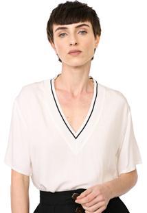 Camiseta Colcci Frisos Off-White