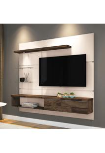 Painel Para Tv 55 Polegadas Ores Off White E Deck 181 Cm