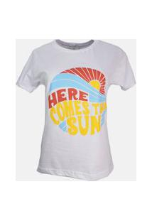 T-Shirt Here Comes The Sun Branco