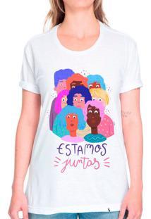 Estamos Juntas - Camiseta Corte Tradicional